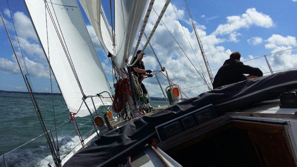 ASVS Stuttgart Manövertraining mit Segelyacht im Solent