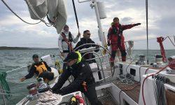 ASV Stuttgart crew training MOB manöver auf hoher See mit der Segelyacht Odysseus