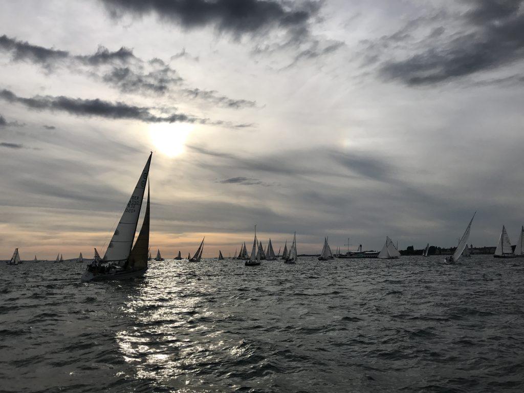 ASVS Bodensee Start der Rundum 2017 mit viel Segelbooten