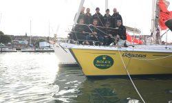 ASVS Stuttgart Offshore Hochsee Regatta Crew auf der Odysseus zum Start des Rolex fastnet Race