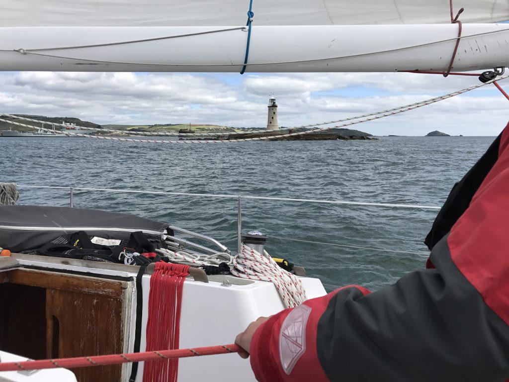 ASVS Überquerung der Ziellinie des Rolex fastnet Race mit der Segelyacht Odysseus