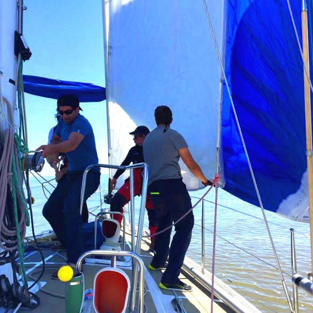 ASVS Training Spi setzen auf der Odysseus bei der Nordseewoche 2017