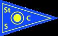 Blauer Wimpel mit gelben Rahmen und einem gelben Punkt in der Mitte